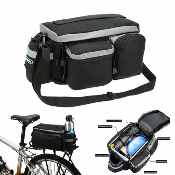 Cycling Bicycle Rear Seat Storage Trunk Bag Bike Pannier Rack Waterproof Handbag
