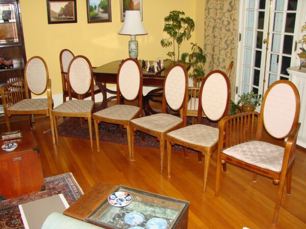 Set Of 6 Beautiful Antique Gustav Siegel Chairs Produced By J&J Kohn (1905)