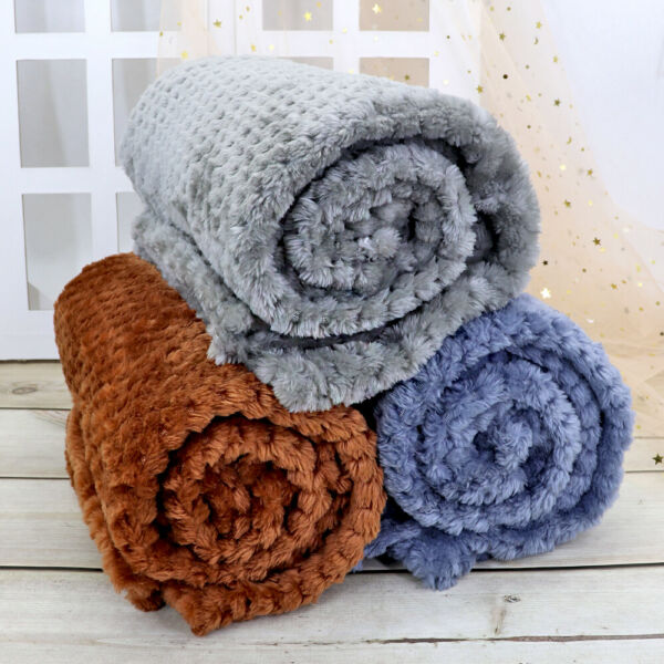 Dog Blankets Large Washable Cosy Fleece Pet Blankets for Dogs Cats Bed Chewproof $9.99
