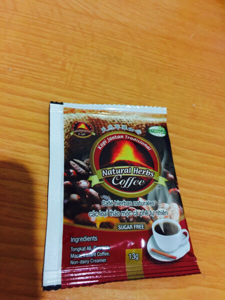 1600 PACKS NATURAL HERBS STRONGMAN COFFEE 13G SACHETS ( SPECIAL PROMOTION )