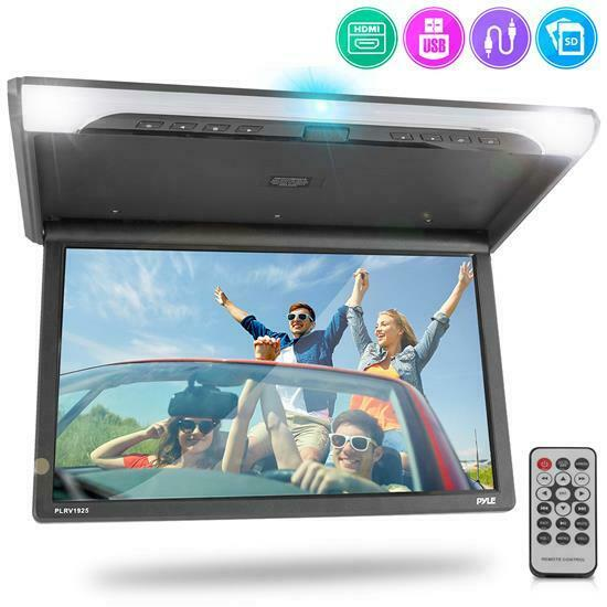 Pyle PLRV1925 Vehicle Flip Down Roof Mount Monitor HD 1080p HDMI USB Micro SD $185.24