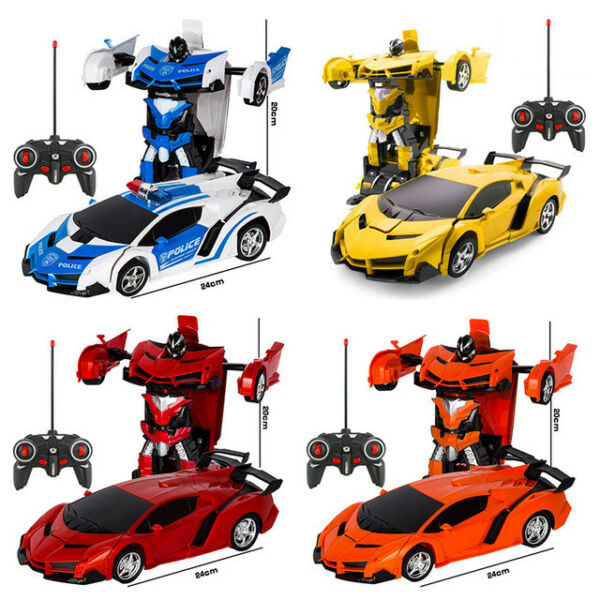 2 In 1 Transformers RC Robot Car Remote Control W/ Sound Light Kids Toys Gift US