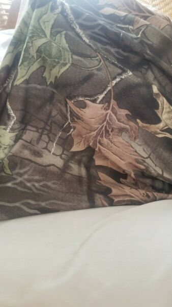 Roll of Polyester Spandex Superflauge Camo Material 4 way stretch