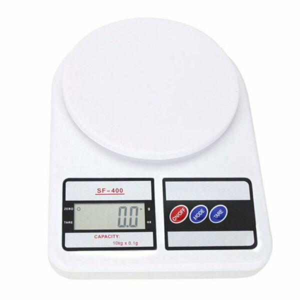 White Digital Weigh Packaging Shipping Postal Scale 10kg0.5g 22lb LCD Display