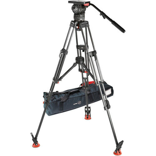 New Sachtler Video-15SB Carbon Fiber Tripod (5386) System MFR #1563 Head # 1505