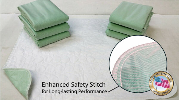 12 NEW BED PAD 34X36 WASHABLE REUSABLE UNDERPADS HOSP GRADE 2300+ SATISFIED-USA