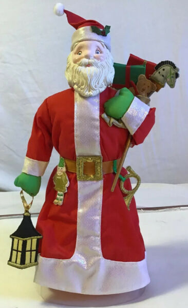 Vintage House Of Hatten Santa Christmas Tree Topper Christmas Santa Tree