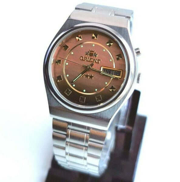 EXCELLENT Watches ORIENT Men's Automatic Costume Jewelry Bracelet Collectible $99.00