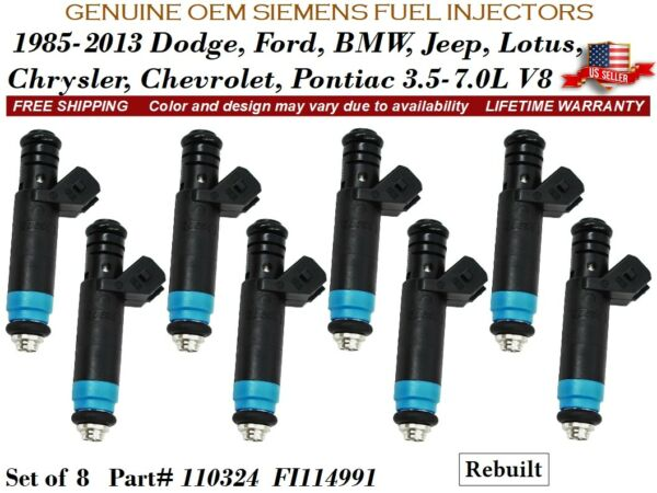 8 Fuel Injectors 80LB OEM SIEMENS High Impedance for 04 Ford F-150 Hertiage 5.4L