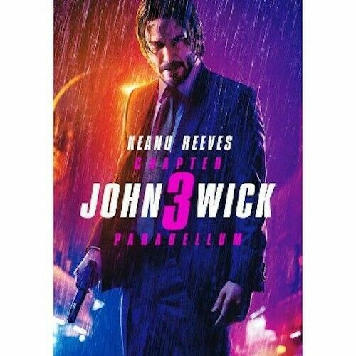 John Wick: Chapter 3 Parabellum (DVD 2019) Keanu Reeves New & Sealed Free