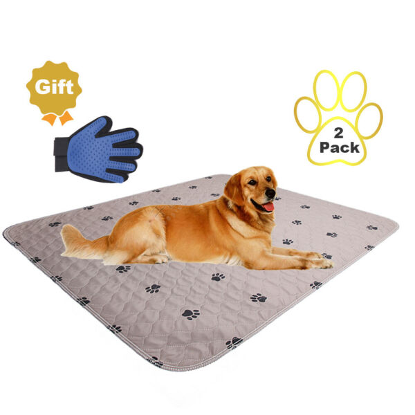 2 Pack - Washable Reusable Pet Puppy Pads Waterproof Dog rugs cover
