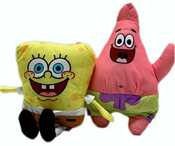 Spongebob and Patrick 6 Inch Stuffed Plush Doll Toy Set of 2 $14.99