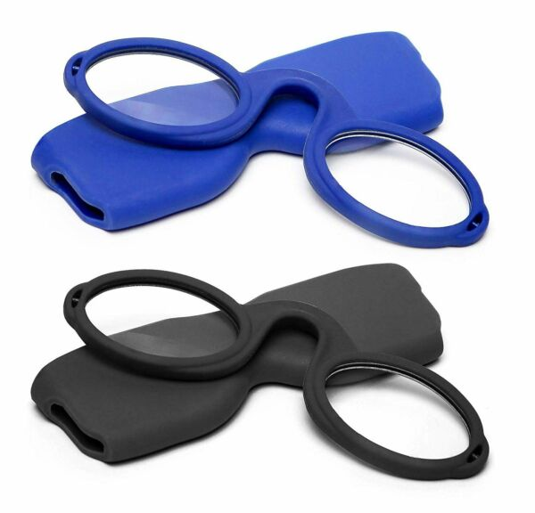 Armless Reading Glasses Round Nose Resting Small Portable Readers for Men and...