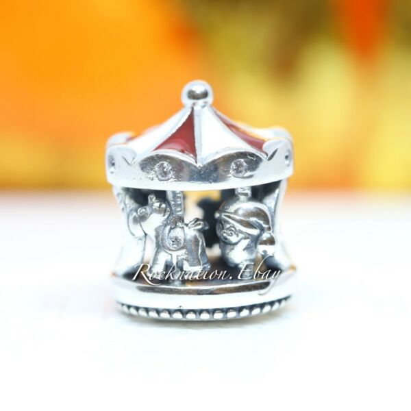Authentic Pandora Christmas Carousel Charm 798435C01