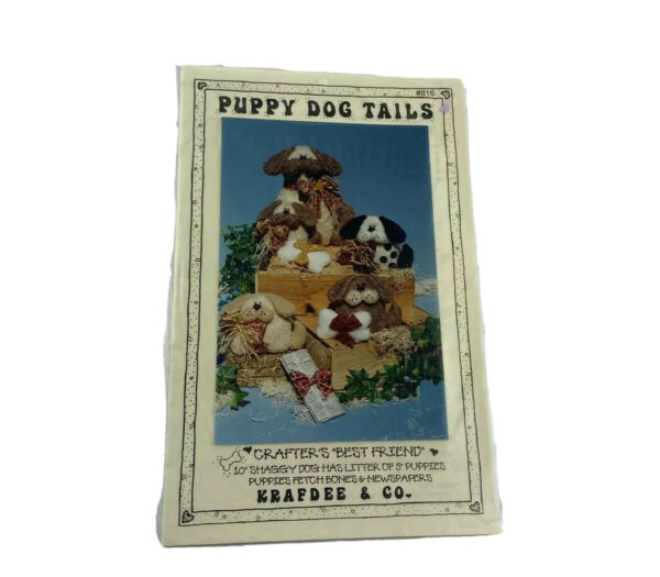 Kraftee And Co Puppy Dog Tails Toy Dog Pattern $4.90