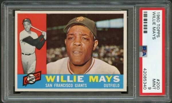 1960 Topps 200 Willie Mays HOF Giants PSA 9 42085340