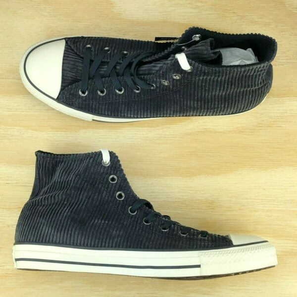 Converse Chuck Taylor All Star High Top Black Corduroy Sneakers 162724C Size