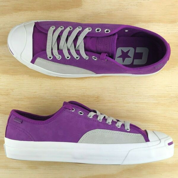 Converse Jack Purcell Pro Cons Low Top Purple Gray Skate Sneakers 162509C Size