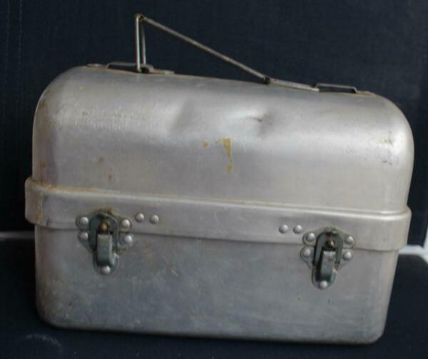 Vintage Aluminum Lunch Pail with Thermos & Tray Priscilla Ware