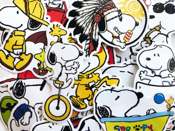 20 Snoopy Woodstock Charlie Brown Cartoon Cute Dog Anime Stickerbomb Stickers $3.79