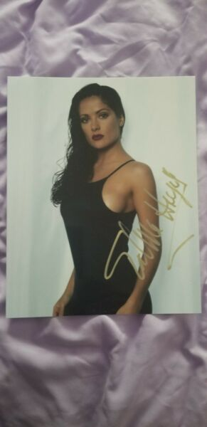 The Lovely Salma Hayek Autographed 8 X 10 photo  with COA