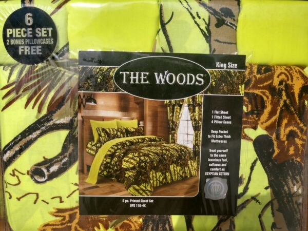 CLEARANCE SALE the woods  camo design 6 piece SHEET SET  7 colors all SIZES