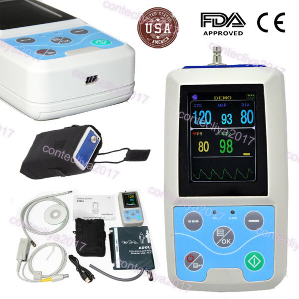 PM50 ICU CCU Vital Signs Patient Monitor CONTEC NIBP SPO2 Pulse Rate MeterUSA