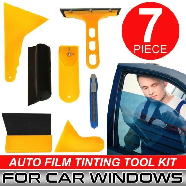 7 x Car Window Tint Auto Film Tinting Scraper Tools Kit Application Installation