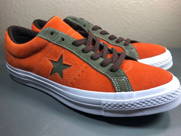 Brand New Converse One Star Pro Ox Orange Casual Skating Shoes 161617C Size 9