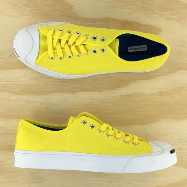 Converse Jack Purcell Signature Ox Low Top Yellow White Sneakers 164104C Size