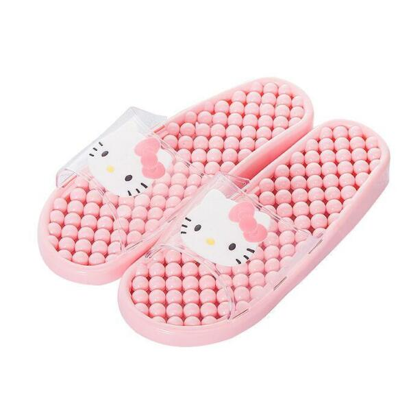 Cute For Hello Kitty Summer Bathroom Home PVC Slippers Shoes US size 6 8 PINK $12.98