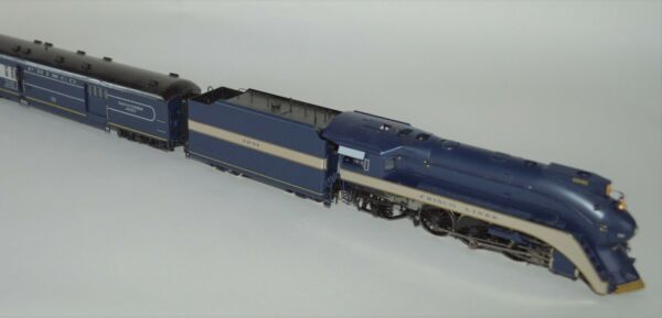 HO Brass Frisco 'Firefly' Streamlined 4-6-2 #1031 + 3-Car Set PSC 18360+18420