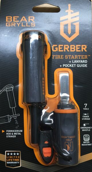 Gerber Bear Grylls Fire Starter with Emergency Survival Whistle 31-000699
