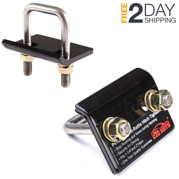 2 Trailer Lock Down Hitch Tightener Stabilizer Heavy Duty Anti Rattle Tow Clamp $14.29