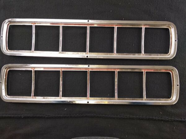 NOS 1968 SHELBY TAIL LIGHT BEZELS.. PAIR..