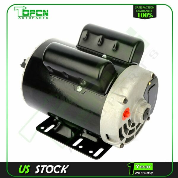 3 HP SPL Air Compressor Electric Motor 56 Frame 3450 RPM Single Phase 58