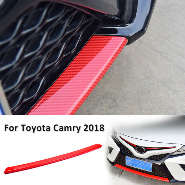 For 2018 2019 Toyota Camry Red Style Carbon Fiber  ABS Front Bumper Protector
