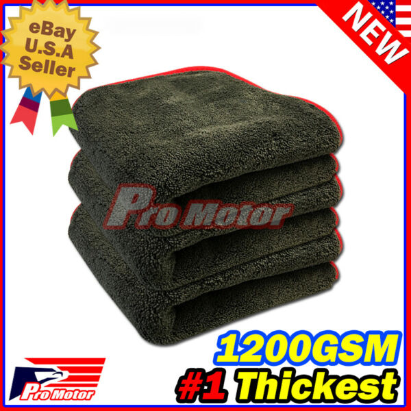 1200GSM Thick Plush Microfiber Towel Cleaning No Scratch Rag Polishing Detailing $8.35