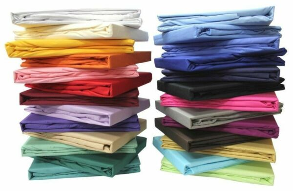 1 PC Fitted Sheet 2 PC Pillow Case 1000TC Egyptian Cotton Solid All Coloramp;Size $48.52