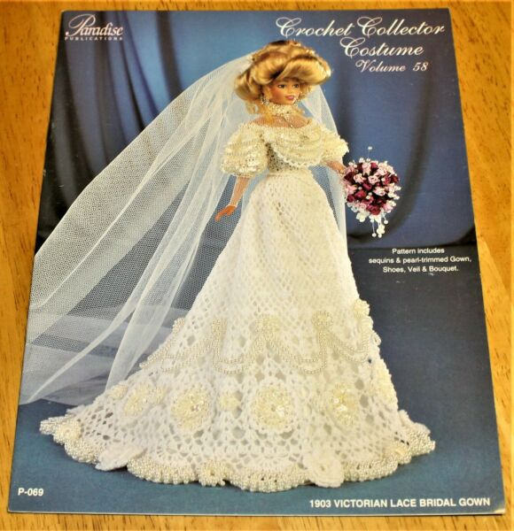 Paradise: CROCHET COLLECTOR COSTUME 1903 Victorian Lace Bridal Gown #58 - P-069