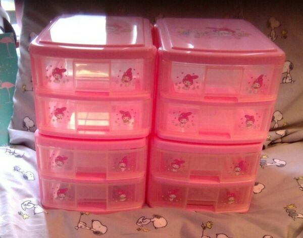 Sanrio Vintage My Melody 2 Drawer Chest Set of 4