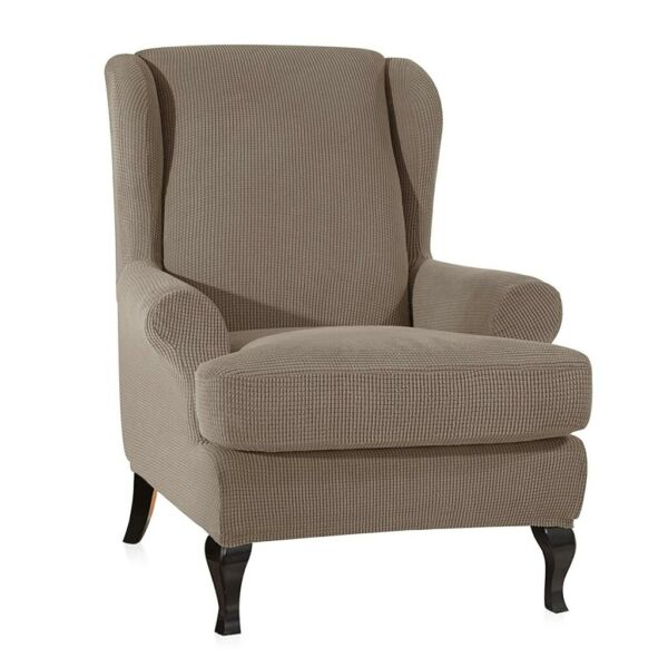 Stretch Spandex Furniture Covers Wingback Chair Slipcover Protectors $25.92