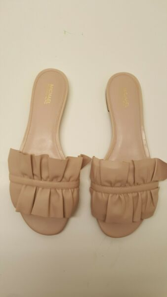 MICHAEL Michael kors Bella Ruffled Slide Sandals Size 9M