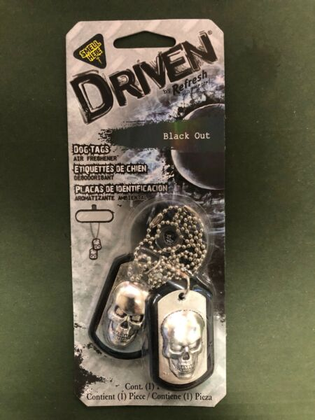 Driven by Refresh Your Car 76107 Scented Dog Tag Black Out $6.99