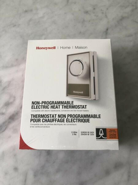 Honeywell Electric Heat Thermostat Non Programmable CT60A 240V 120V NIB Sealed C $19.95