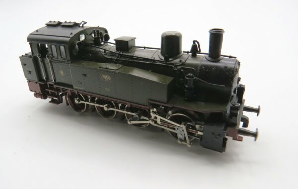 Trix HO  DC - KPEV - 0-8-0 T12 Green Steam Tank Loco - Super Clean Condition++