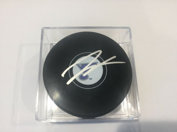 Jay Bouwmeester Signed Autographed St. Louis Blues Hockey Puck b