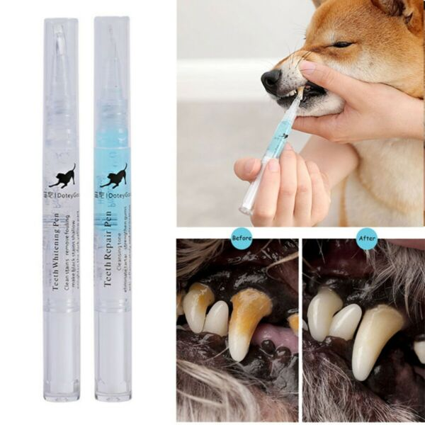 Pets Dog Teeth Tartar Dental Calculus Stones Remover Toothbrush Cleaning Kit $6.81