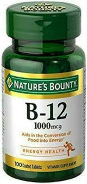 Nature#x27;s Bounty Vitamin B 12 1000 mcg 100 Tablets FREE SHIPPING