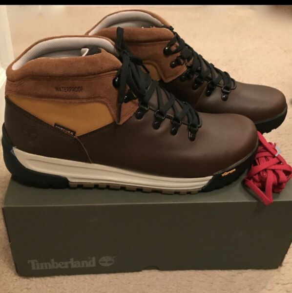 TIMBERLAND FOR J.CREW GT SCRAMBLE HIKING BOOTS SIZE 8M BROWN J9290 $80.09